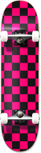 Punked - Checker Complete-8.0 Blk/pink Ppp (Complete Skateboard)