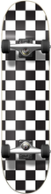 Punked - Checker Complete-8.0 Blk/wht Ppp (Complete Skateboard)