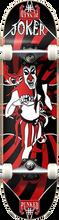 Punked - Joker Complete-8.0 Blk/red Ppp (Complete Skateboard)