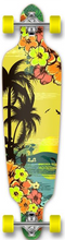 Punked - Drop-down Complete-9x41.25 Tropical Day (Complete Skateboard)