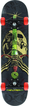 Powell Peralta - Skull & Sword Complete-7.88 Grey/lime/red (Complete Skateboard)
