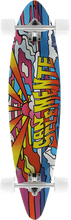 San Clemente - Stained Glass 4 Mini Pin Complete-7.75x33 (Complete Skateboard)