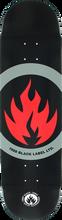 Black Label - Circle Flame Deck-8.5 Blk/red/grey (Skateboard Deck)