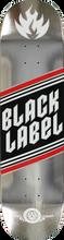 Black Label - Top Shelf Foil Deck 8.0 Silver (Skateboard Deck)