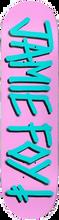 Death Wish - Foy Gang Name Deck-8.0 Pink/teal (Skateboard Deck)
