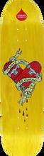 Lifeblood Skateboards - Lifers Heart Deck-8.47x32 Yel (Skateboard Deck)