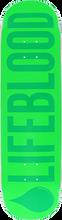Lifeblood Skateboards - Logo Deck-8.25 Double Green Grn/grn Ppp (Skateboard Deck)