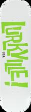 Lurkville - Logo Deck-8.25 Stearn Colorway Wht/grn (Skateboard Deck)