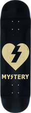 Mystery - Clear Heart Deck-8.25 Blk/nat (Skateboard Deck)