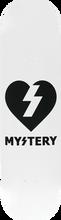 Mystery - Heart Deck-8.0 White/black (Skateboard Deck)