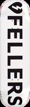 Mystery - Fellers Logo Deck-8.5 White (Skateboard Deck)