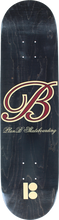 Plan B - B Og Script B Deck-8.0 Blk/red (Skateboard Deck)