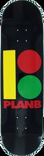 Plan B - B Rasta B Deck-8.3 Blk/rasta (Skateboard Deck)