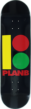 Plan B - B Rasta B Deck-8.5 Blk/rasta (Skateboard Deck)