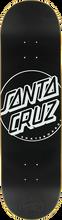 Santa Cruz - Classic Dot Deck-8.37 Blk/wht (Skateboard Deck)