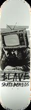 Slave - Bored Black & White Tv Deck-8.88 White/blk (Skateboard Deck)
