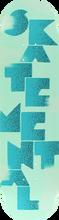 Skate Mental - Mental Logo Stack 1 Deck-8.12 Blue (Skateboard Deck)