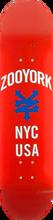 Zooyork - Nyc Usa Deck-8.25 Red (Skateboard Deck)