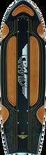 Gravity - Routered Bat Tail Deck-8.12x28 Blk/brn (Longboard Deck)