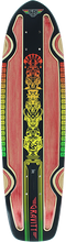 Gravity - Routered Rasta Deck-7.81x30 Red/rasta (Longboard Deck)