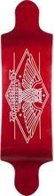 "Landyachtz - Switch 35"" Owl Deck-9.5x35 Red (Longboard Deck)"
