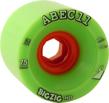 Abec 11 - Bigzig Hd 75mm 77a Lime/org (Wheels - Set Of Four)