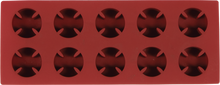 Independent - Cross Molded Ice Cube Tray Red