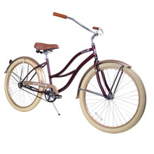 ZF Bikes - Beach Cruiser Bike - 2017 Paraiso - Ruby