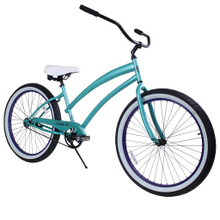 ZF Bikes - Beach Cruiser Bike - Cheetah - Aqua