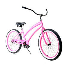 ZF Bikes - Beach Cruiser Bike - Cheetah - Pink