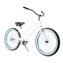 ZF Bikes - Beach Cruiser Bike - Cheetah - White