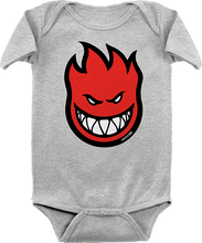Spitfire - Baby Big Bighead Fill Romper 24m-hthr.grey/red