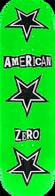 Zero - American Zero Ransom Note Deck-8.37 Grn - Skateboard Deck