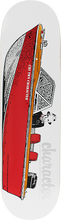 Charity - Boat Deck-8.25 Wht/red - Skateboard Deck