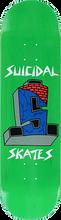 Suicidal - Skates Cross Logo Deck-8.5 Green - Skateboard Deck