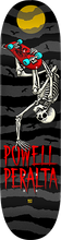 Powell Peralta - Handplant Skelly Deck-8.0 Charcoal/blk/red - Skateboard Deck