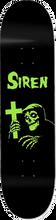Siren - Rom Six Deck-8.0 Blk/grn Ppp - Skateboard Deck