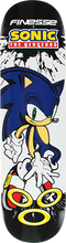 Finesse - Sega Sonic The Hedgehog Deck-8.0 Bk/wt/blu - Skateboard Deck