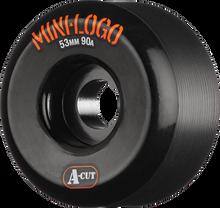Mini Logo - A-cut Hybrid 53mm 90a Black Ppp (Skateboard Wheels - Set of 4)