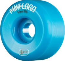 Mini Logo - A-cut Hybrid 53mm 90a Blue Ppp (Skateboard Wheels - Set of 4)
