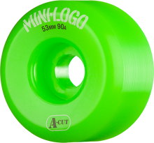 Mini Logo - A-cut Hybrid 53mm 90a Green Ppp (Skateboard Wheels - Set of 4)