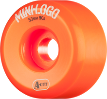 Mini Logo - A-cut Hybrid 53mm 90a Orange Ppp (Skateboard Wheels - Set of 4)
