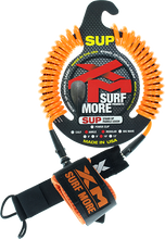 Xm - Sup Coiled Regular Ankle Leash 10' Orange