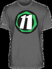 Abec 11 - Core 11 Ss Xl - Charcoal - Skateboard Tshirt