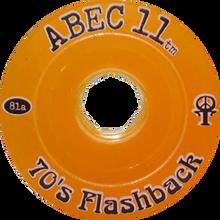 Abec 11 - Flashbacks 70mm 81a Amber - (Set of Four) Skateboard Wheels