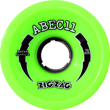 Abec 11 - Zigzags 70mm 80a Lime - (Set of Four) Skateboard Wheels