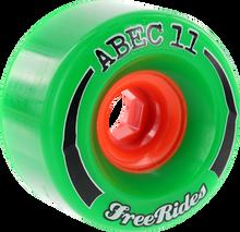 Abec 11 - Freeride Centerset 72mm 84a Green - (Set of Four) Skateboard Wheels
