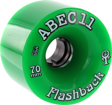 Abec 11 - Flashbacks 70mm 81a Green - (Set of Four) Skateboard Wheels