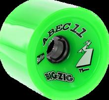 Abec 11 - Bigzigs 75mm 80a Lime - (Set of Four) Skateboard Wheels