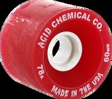 Acid - Funner 60mm 78a Red - (Set of Four) Skateboard Wheels